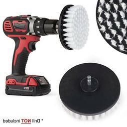 """5"""" White Drill Brush Attachment for Cleaning Carpet Leather"""