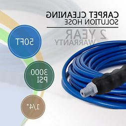 50FT 1/4 Carpet Cleaning Solution Hose 3000PSI Blue High Pre
