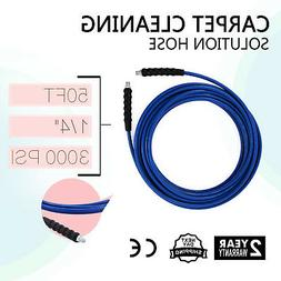 """50FT CARPET CLEANING SOLUTION HOSE 1/4"""" STEEL BRAIDED HEAT W"""