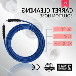 """50FT CARPET CLEANING SOLUTION HOSE 1/4"""" HOME CLEANER HEAT WA"""