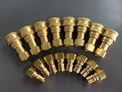 8 Sets Quick Disconnect Couplers for Carpet Cleaning Wands