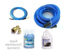 carpet cleaning 25ft hoses super concentrate chemical