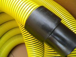 "Carpet Cleaning Truck-Mount 2"" Vacuum Hose Yellow"