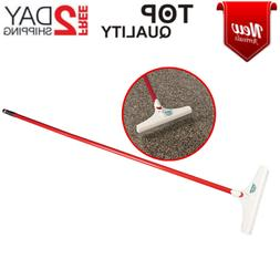 Carpet Groomer And Rug Rake 12 In. Handle Household Tool Alu