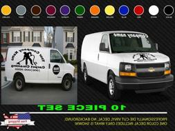Huge 10 Piece Carpet Cleaning or Custom Business decals  Cus