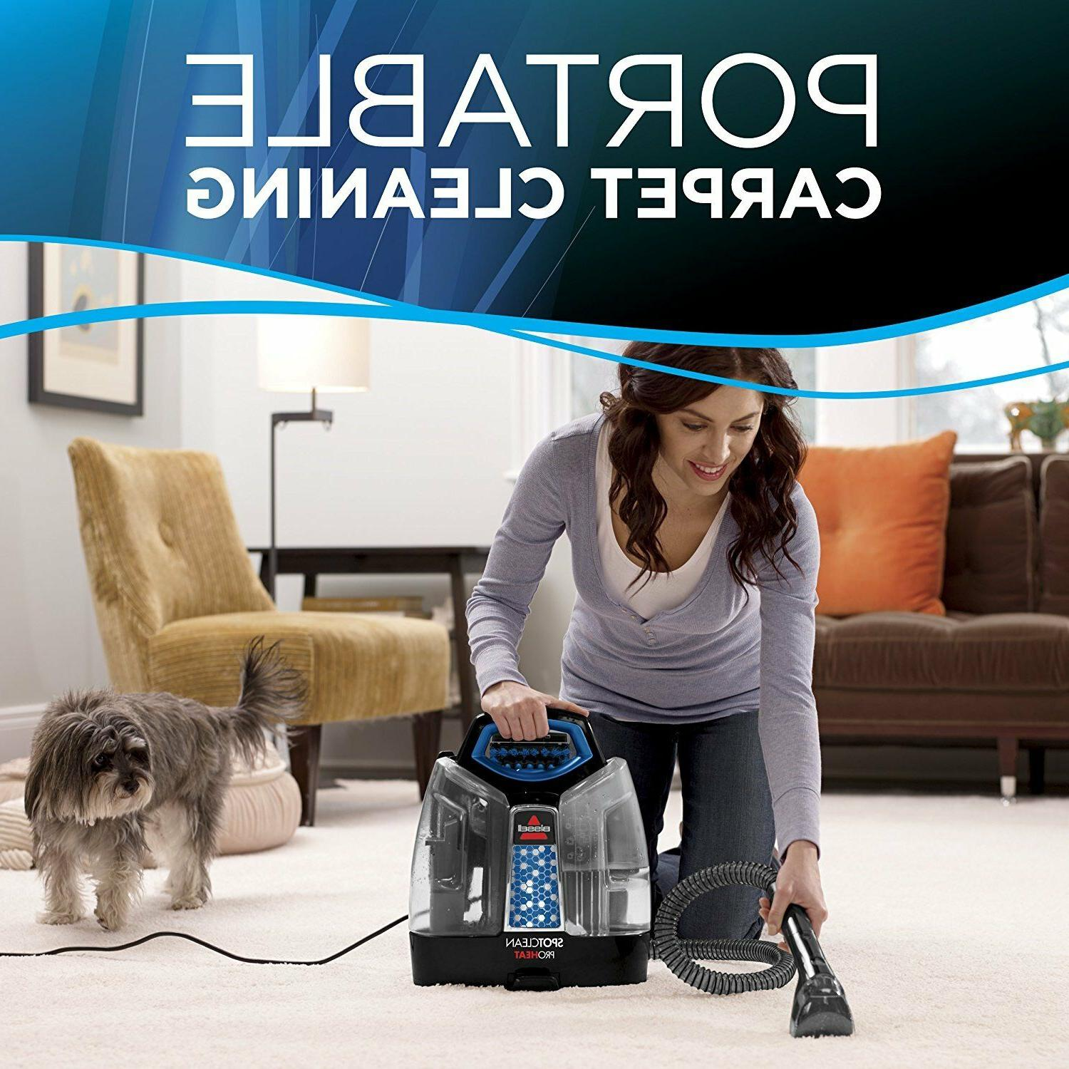 Bissell Carpet Portable Cleaner Spot Wave Heat Stain