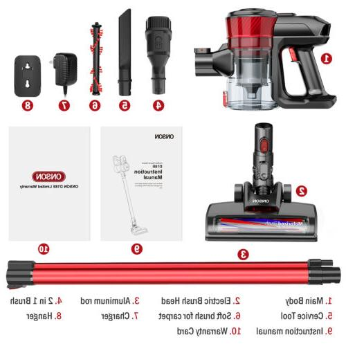 ONSON Cordless Vacuum Cleaner Clean 12000pa Suction
