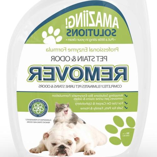 Amaziing Solutions Odor Eliminator Carpet Urine and Cat Professional Strength Enzymatic Natural Enzymes for and Hardwood Floors