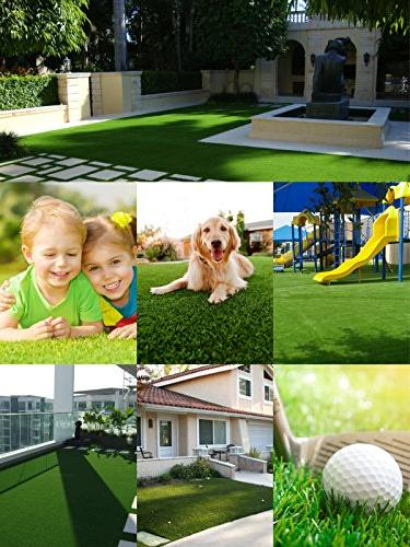 SV Deluxe Artificial Grass Thick -Perfect for Landscape )