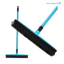 Long Push Rubber Broom Bristles Sweeper Squeegee Scratch Fre