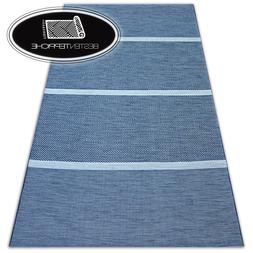 "Modern Sisal Carpet "" Color "" Blue Flat Woven Art Steam Desp"