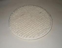 ORECK-ORBITER WHITE CLOTH CARPET BONNET, PADS-OEM, 437-053,