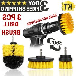 Power Scrubber Drill Brush Set Cleaner Spin Bathroom Tub Sho
