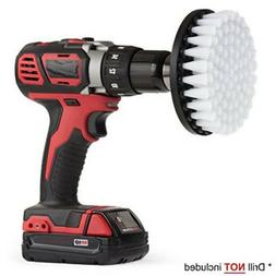 White Electric Drill Brush Attachment for Cleaning Carpet Le